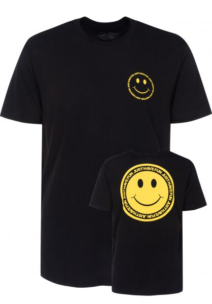 Just Have Fun T-Shirts Have A Nice Day black Vorderansicht