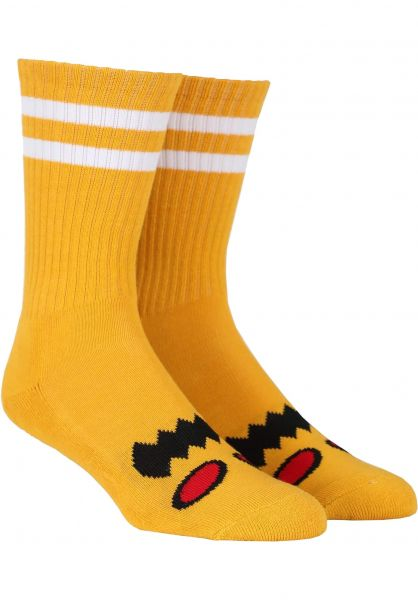 Toy-Machine Socken Monster-Face mustard vorderansicht 0630254
