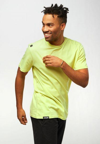 AEVOR T-Shirts Base Tee fadedlime vorderansicht 0322328