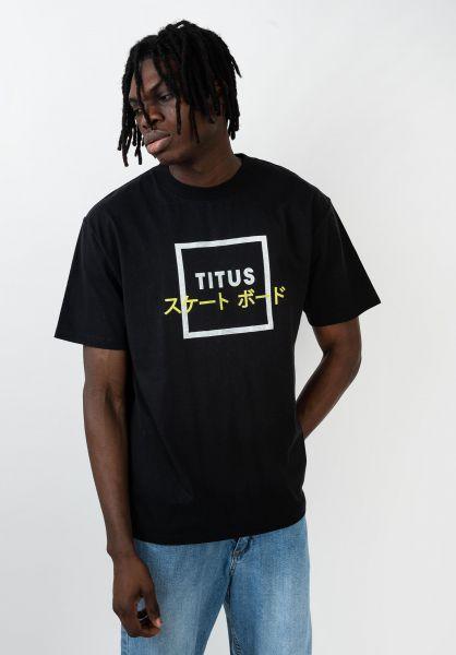 TITUS T-Shirts Samuel black vorderansicht 0320154