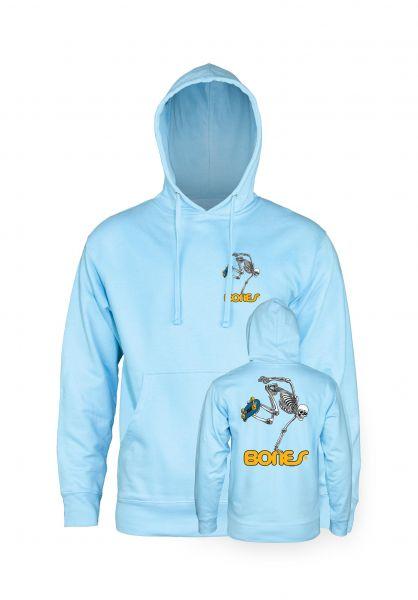 Powell-Peralta Hoodies Skateboard Skeleton Medium Weight blue-aqua vorderansicht 0443977