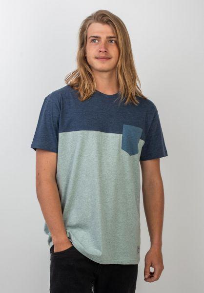 iriedaily T-Shirts Block Pocket mintgrey vorderansicht 0394022