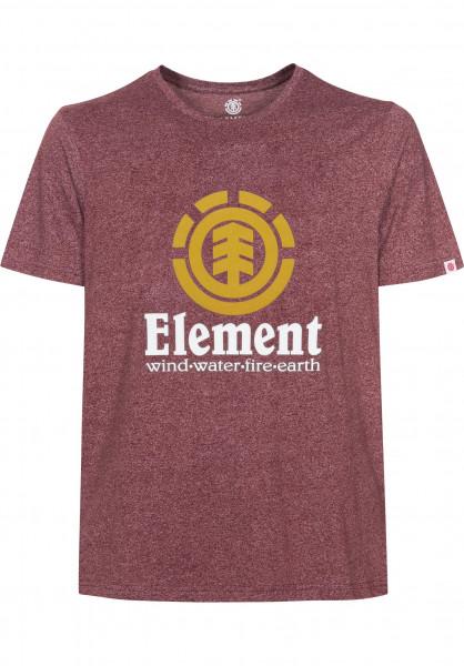 Element T-Shirts Vertical oxbloodheather Vorderansicht