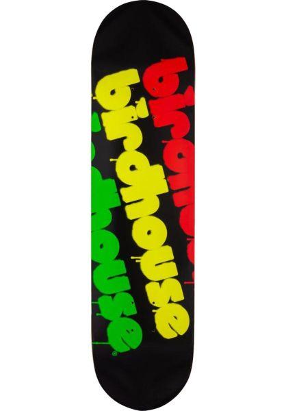 Birdhouse Skateboard Decks Triple Stack Rasta black-rasta vorderansicht 0263311