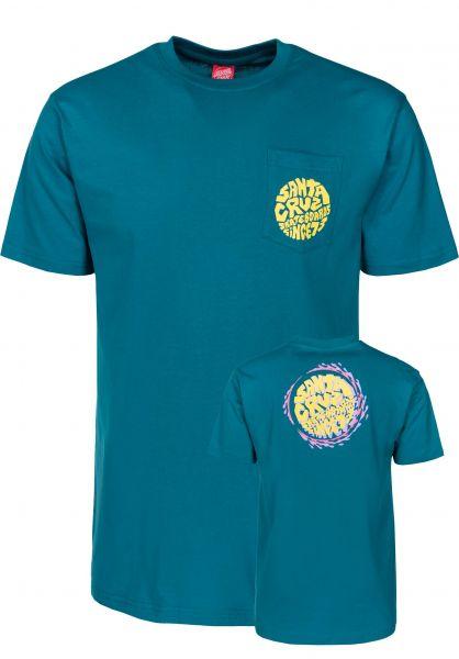 Santa-Cruz T-Shirts Spin Pocket capri-blue Vorderansicht