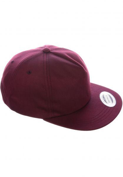 Flexfit Caps Unstructured Snapback maroon vorderansicht 0566391