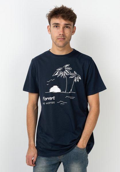 Forvert T-Shirts Jonne navy vorderansicht 0320120