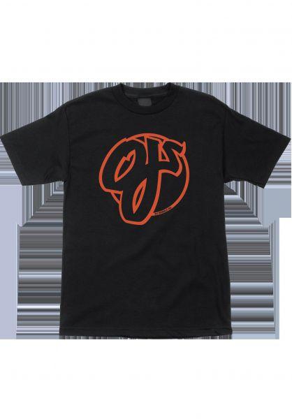 OJ Wheels T-Shirts Team black vorderansicht 0383216