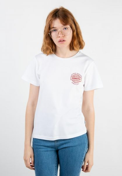 Wemoto T-Shirts Radio Cropped white vorderansicht 0320283