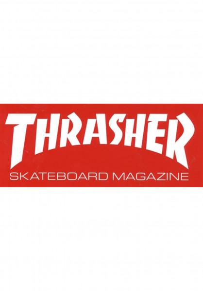 Thrasher Verschiedenes Skate Mag Super Sticker red Vorderansicht