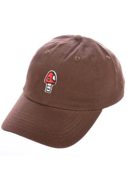 Lurk Hard Caps Goom coffee vorderansicht 0566543