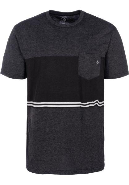 Volcom T-Shirts 3 Quarter heatherblack vorderansicht 0399846