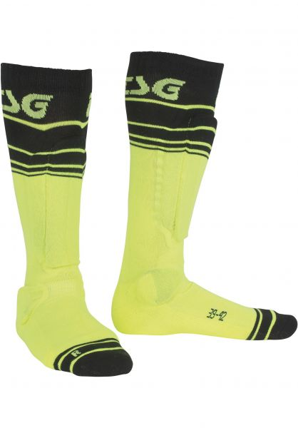 TSG Socken Riot yellow-striped Vorderansicht