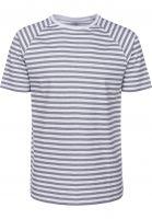 TITUS T-Shirts Tobias lightgrey-striped Vorderansicht