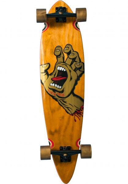 Santa-Cruz Longboards komplett Screaming Hand Pintail natural vorderansicht 0194251