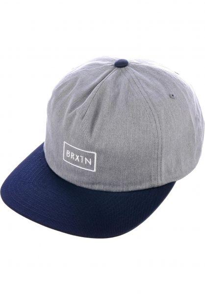 Brixton Caps Rift heathergrey-navy Vorderansicht