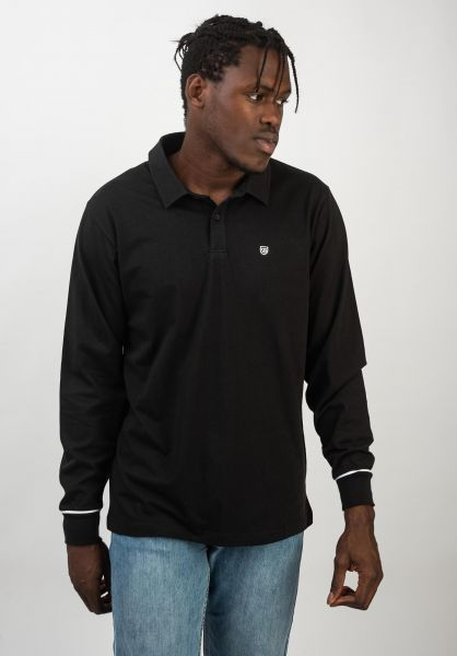 Brixton Polo-Shirts Carlos black-white vorderansicht 0138401