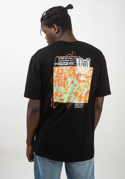 HUF T-Shirts x Woodstock Nobody black vorderansicht 0320645