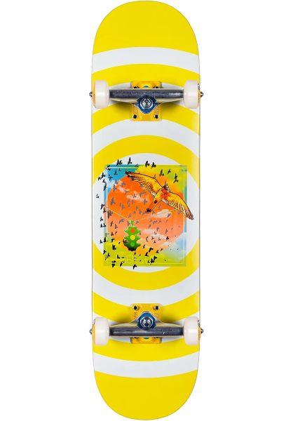 Habitat Skateboard komplett Rush Hour white-yellow vorderansicht 0162748