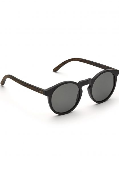 TAS Take a Shot Sonnenbrillen Lukas walnut-grey-blackmatt vorderansicht 0590577