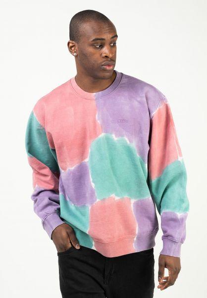 OBEY Sweatshirts und Pullover Sustainable Tie Dye Crew purplenitromulti vorderansicht 0423159