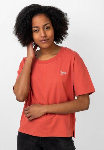 TITUS T-Shirts Mia orange-washed vorderansicht 0383192