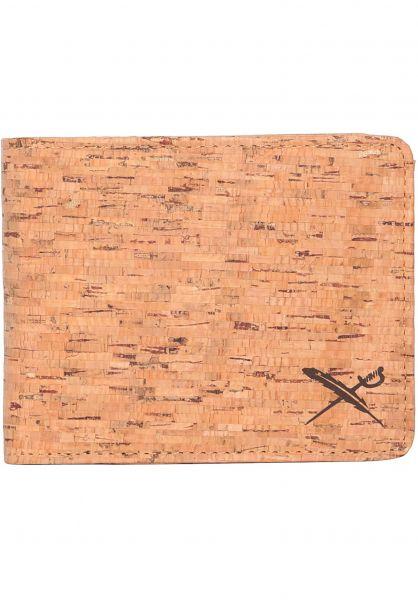 iriedaily Portemonnaie Cork Flag wood vorderansicht 0780991