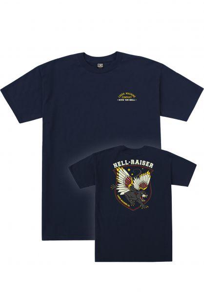 Loser-Machine T-Shirts Hell-Raiser navy-heather vorderansicht 0384026