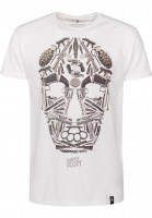 Dirty Velvet T-Shirts Death Mask vintagewhite Vorderansicht