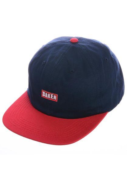 Baker Caps Brand Logo Snapback navy-red vorderansicht 0566288
