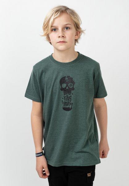 TITUS T-Shirts Tamaro Kids petrolmottled-black vorderansicht 0321017