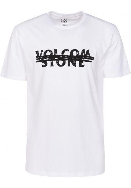 Volcom T-Shirts Big Mistake white Vorderansicht