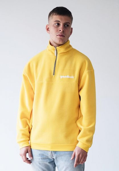 Goodbois Sweatshirts und Pullover Official Fleece Half Zip Crewneck yellow vorderansicht 0422789