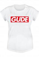 GUDE-T-Shirts-Schranke-Girlie-white-Vorderansicht