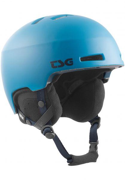 TSG Snowboardhelme Tweak Solid Color satin cerulean blue vorderansicht 0223002