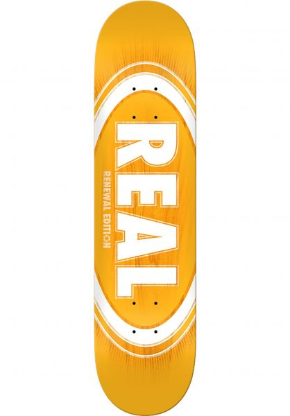 Real Skateboard Decks Oval Burst Fade PP yellow vorderansicht 0261692