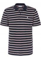 Carhartt WIP Polo-Shirts Murray murraystripe-navy-sandyrose Vorderansicht