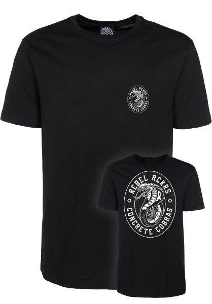 Rebel Rockers T-Shirts Cobra black Vorderansicht 0397082