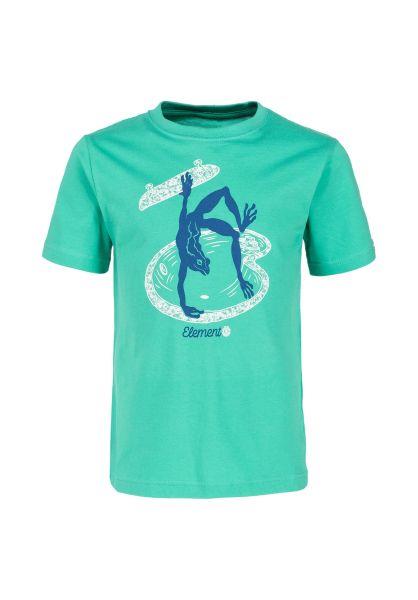Element T-Shirts Wheeler Kids mint vorderansicht 0321685