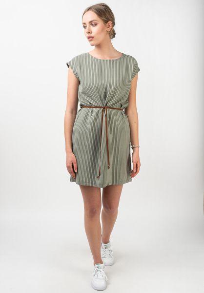 Mazine Kleider Arada olive-stripes vorderansicht 0422961