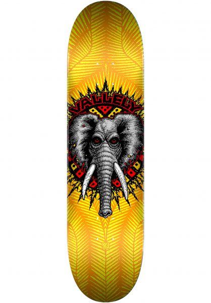 Powell-Peralta Skateboard Decks Vallely Elephant Birch yellow vorderansicht 0262830