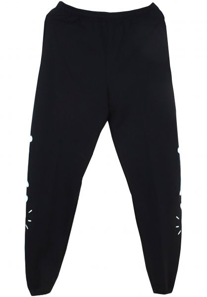 Tired Jogginghosen Bones black vorderansicht 0680225