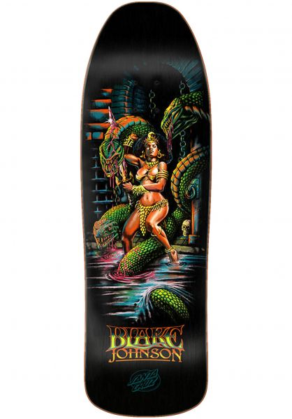 Santa-Cruz Skateboard Decks Johnson Warrior Preissue black vorderansicht 0263435