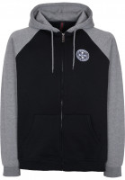 Independent Zip-Hoodies ITC Cross black-darkheather Vorderansicht