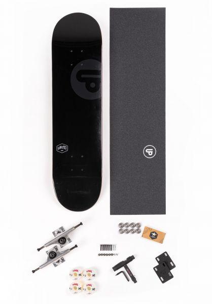 "TITUS Skateboard komplett Assembly Kit Small Logo Icon V 8.0"" black vorderansicht 0161915"