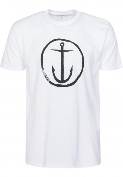 Captain Fin T-Shirts Original Anchor white-black Vorderansicht