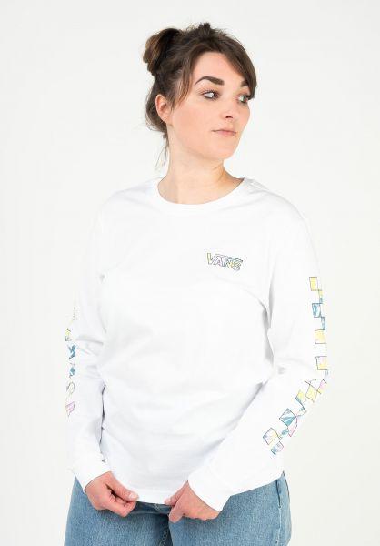 Vans Longsleeves Dye Vibe white vorderansicht 0383927
