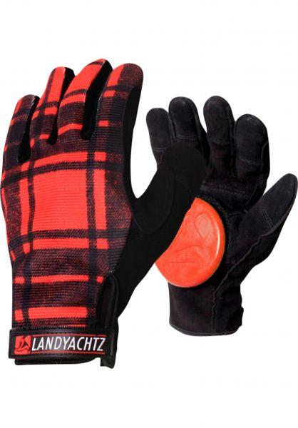 Landyachtz Handschoner Plaid Freeride Slide Gloves plaid Vorderansicht