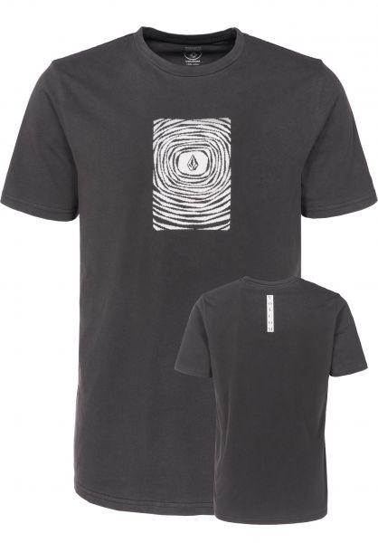 Volcom T-Shirts Engulf black Vorderansicht