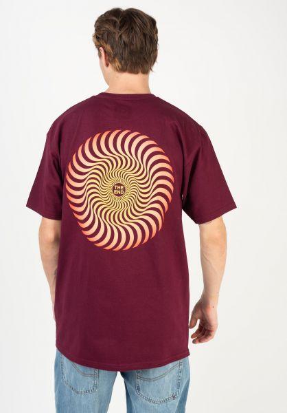 Spitfire T-Shirts Classic Swirl Fade burgundy-red vorderansicht 0383202